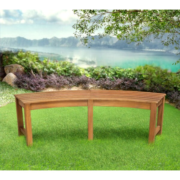Alves Wood Curved Bench by Canora Grey