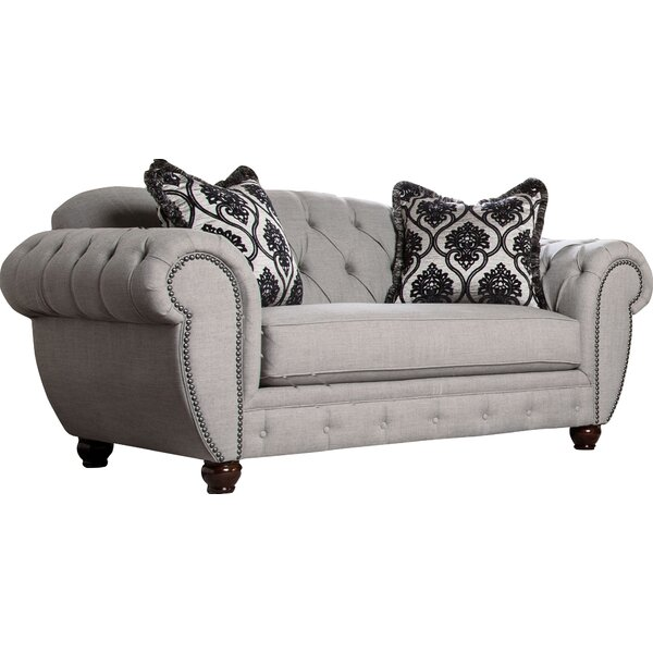 Shop For Suffield Chesterfield 76 Rolled Arm Loveseat by Darby Home Co