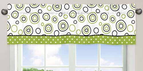 Spirodot 54 Curtain Valance by Sweet Jojo Designs
