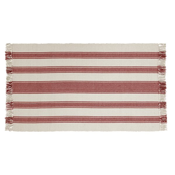 Boucher Hand-Woven Cotton Red Area Rug by Laurel Foundry Modern Farmhouse