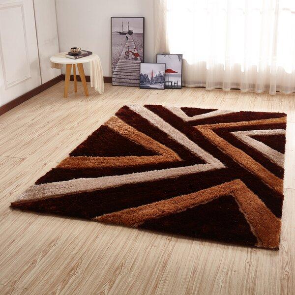 Kleiber Contemporary Shaggy 3d Brown Area Rug By Orren Ellis.