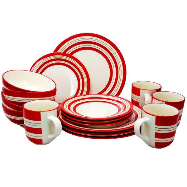 Paula 16 Piece Dinnerware Set, Service for 4 by Breakwater Bay