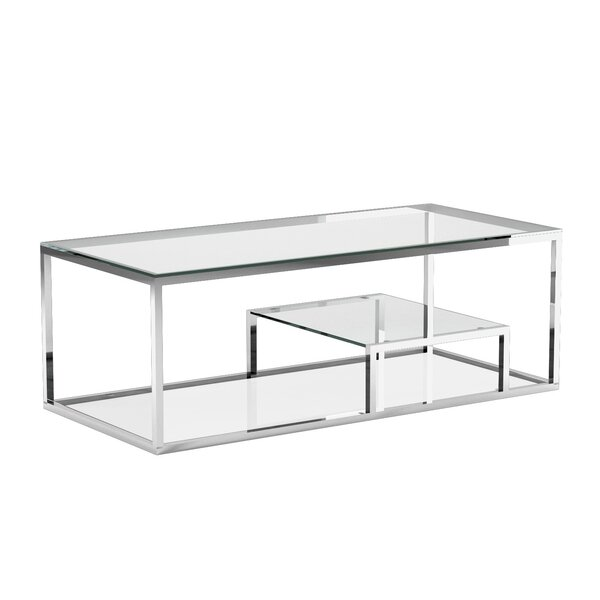 Cayla Frame Coffee Table With Storage By Everly Quinn