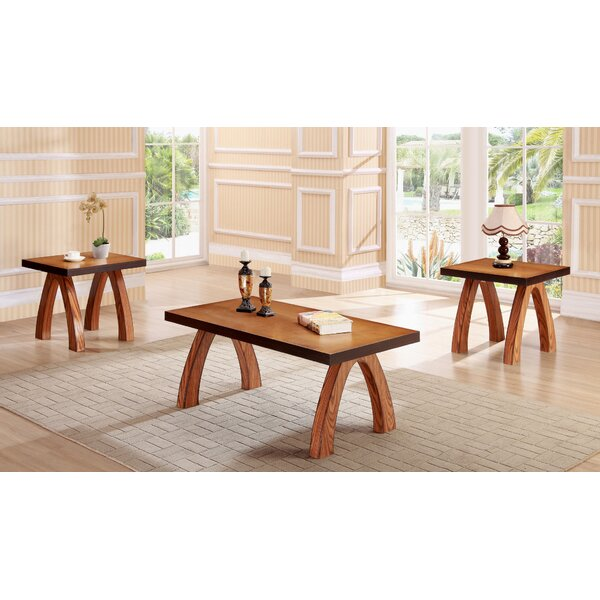 Salas 3 Piece Coffee Table Set by World Menagerie World Menagerie