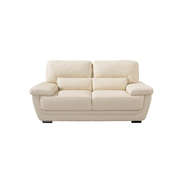 Vigil Leather Loveseat by Latitude Run