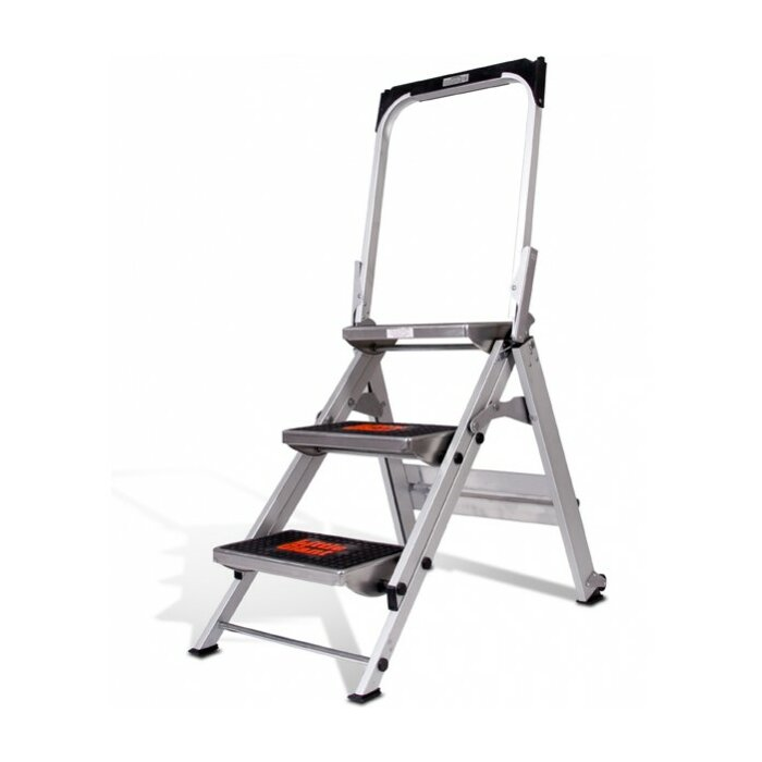 Little Giant Ladder 3-Step Aluminum Safety Step Stool with 300 lb ...