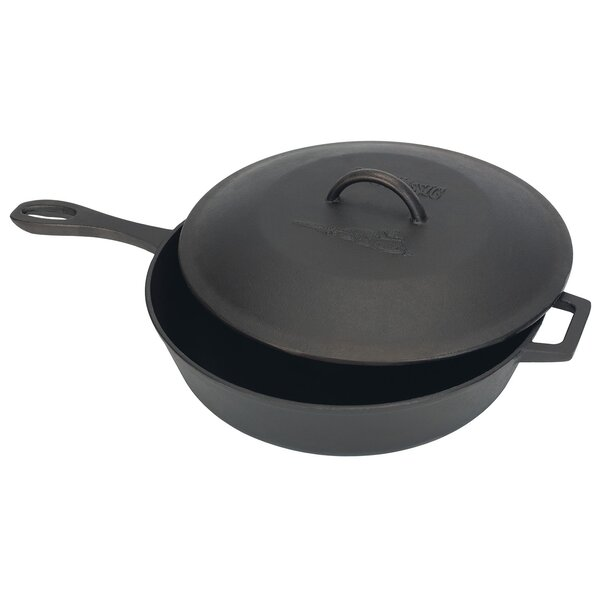 5 qt. Cast Iron Skillet 6 Specialty Pan with Lid b