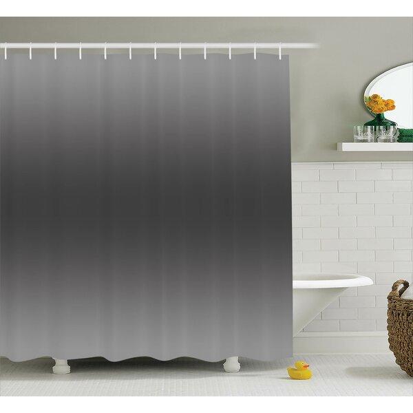 Inspired Smokey Modern Design Shower Curtain by Ebern Designs