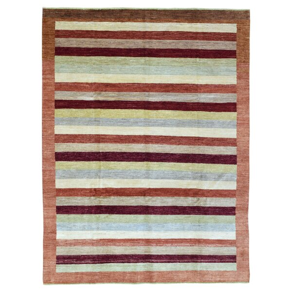 One-of-a-Kind Coutee Gabbeh Hand Woven Wool Brown Area Rug by Isabelline