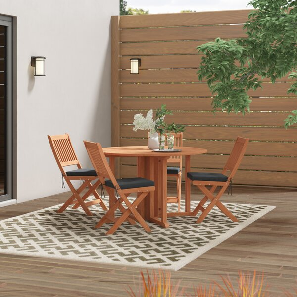 Folse 5 Piece Dining Set with Cushions by Brayden Studio
