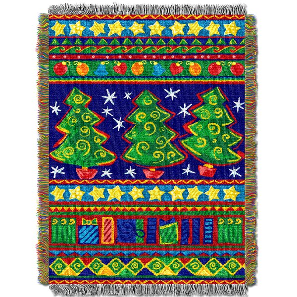Tree Festivity Throw by Northwest Co.