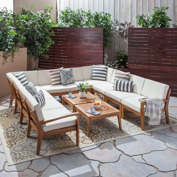 Bellows 12 Piece Sectional Seating Group by Sol 72 Outdoor