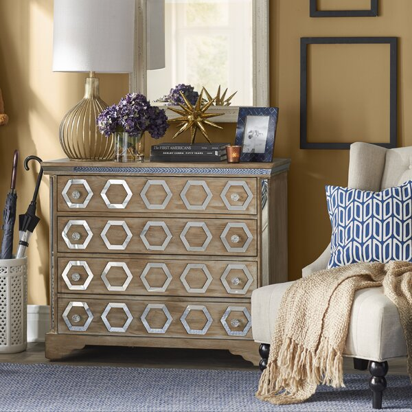 Fletcher 4 Drawer Chest by Bungalow Rose