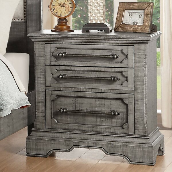 Cantara 3 Drawer Nightstand by Canora Grey