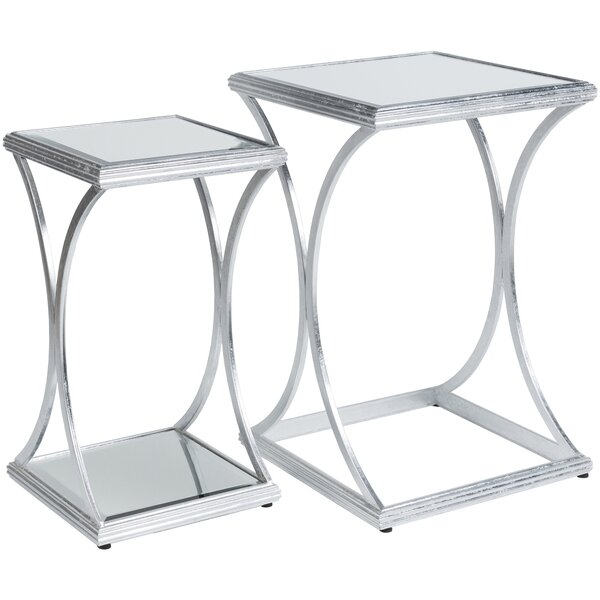 Ashanti ly-Inspired 2 Piece Nesting Tables by Orren Ellis Orren Ellis