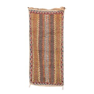 Ait Bou Sbaa Moroccan Hand-Woven Wool Brown Area Rug