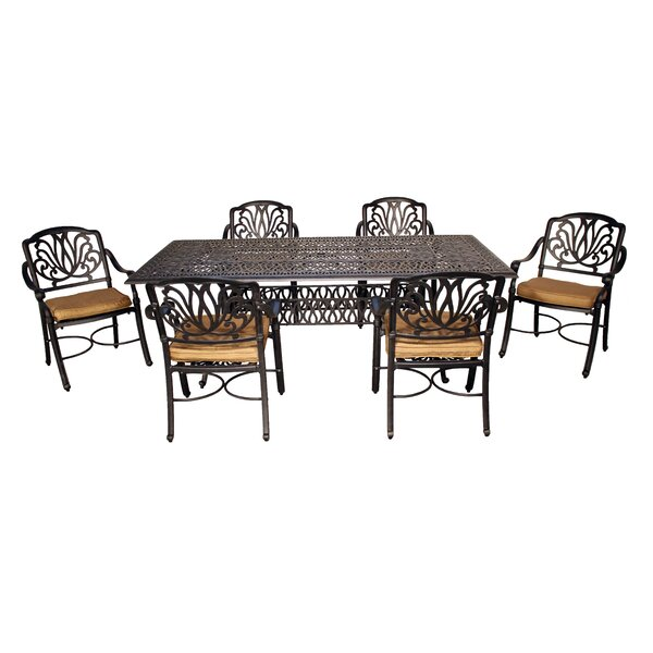 Wasserhund Dining Set with Cushions by Astoria Grand