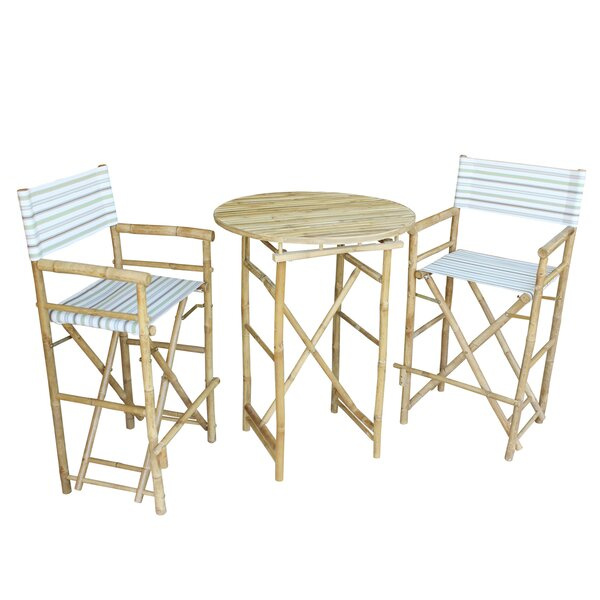 Dessie 3 Piece Bar Height Dining Set by Highland Dunes