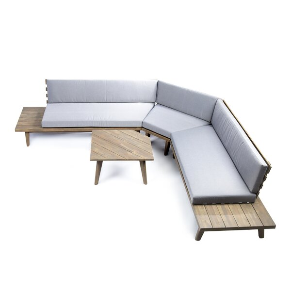 Grazian 4 Piece Sectional Set with Cushions by Union Rustic