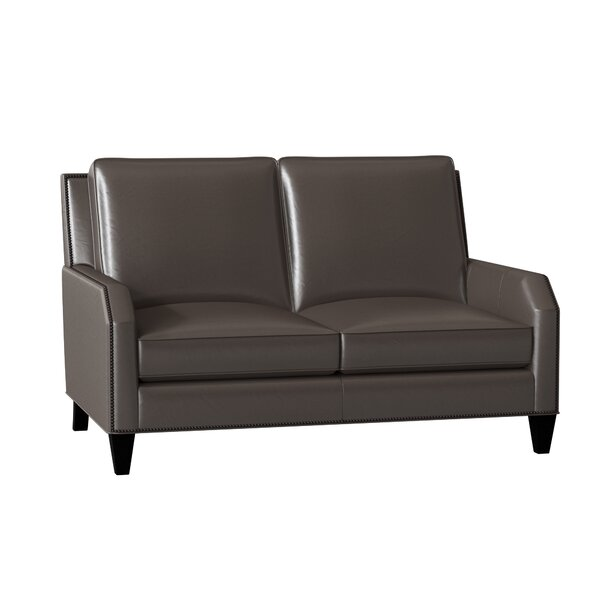 Caroline Leather Loveseat By Bradington-Young