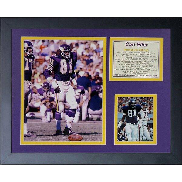 Carl Eller Framed Memorabilia by Legends Never Die