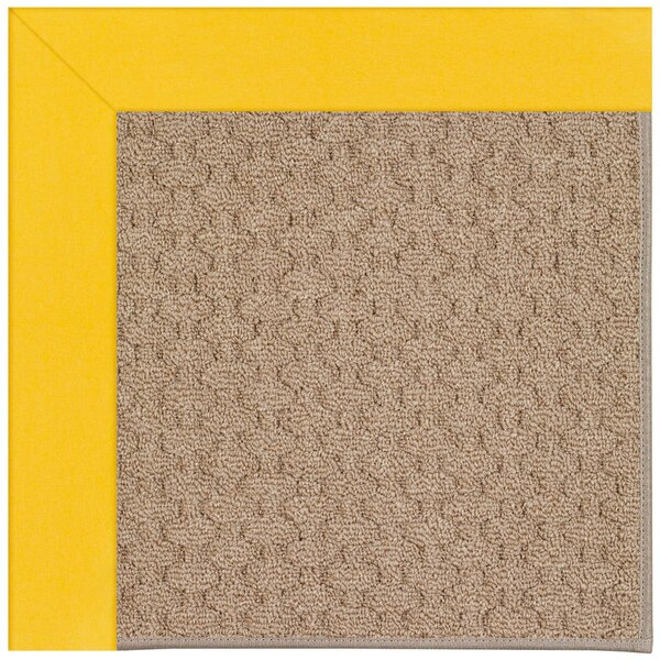 Lisle Machine Tufted Summertime Yellow/Brown Indoor/Outdoor Area Rug by Longshore Tides