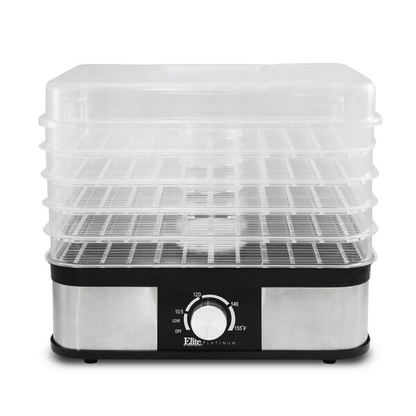 5 Tray Stainless Steel Snack Maker Food Dehydrator by Elite by Maxi-Matic