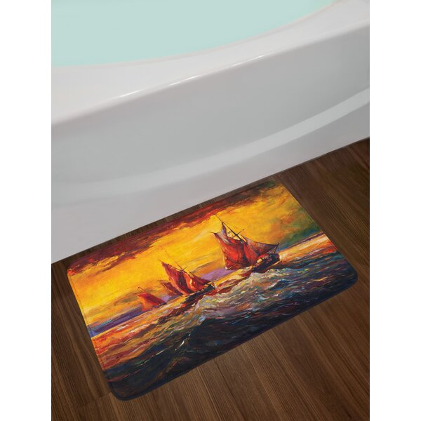 Yellow Orange Image Country Bath Rug by East Urban Home