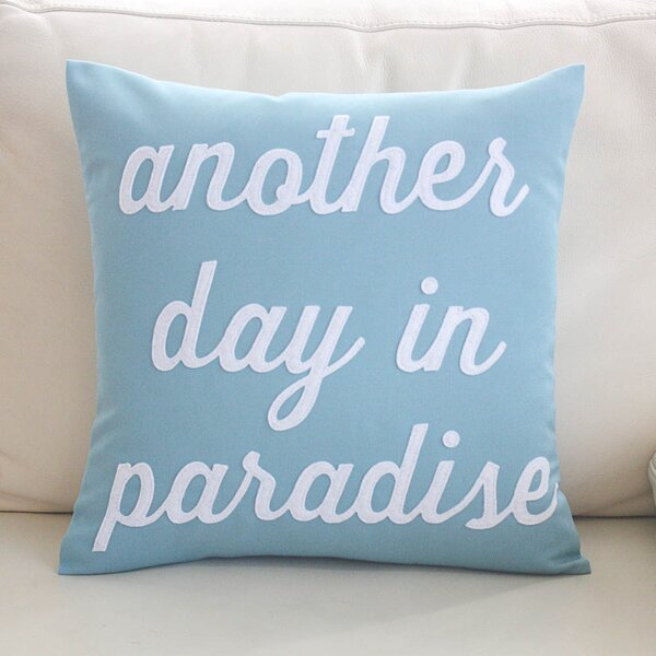 Another Day in Paradise Outdoor Sunbrella Throw Pillow by Alexandra Ferguson