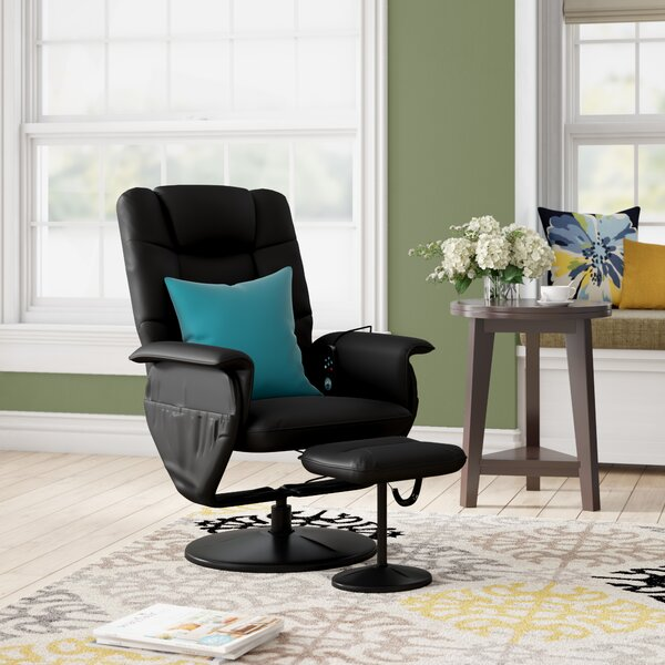 Review Reclining Heated Massage Chair With Ottoman