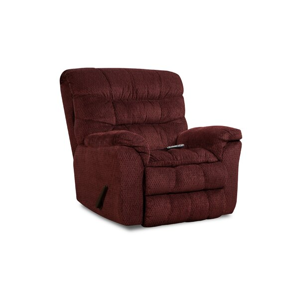 Eiland Simmons Upholstery Heat and Massage Rocker Recliner [Red Barrel Studio]