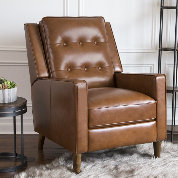 Drumheller Leather Manual Recliner by Corrigan Studio