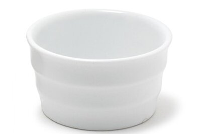 Eurowhite Round 3 oz. Ribbed Cup/Ramekin (Set of 12) by Front Of The House