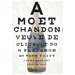 'Champagne Eye Chart' Graphic Art on Wrapped Canvas by Oliver Gal