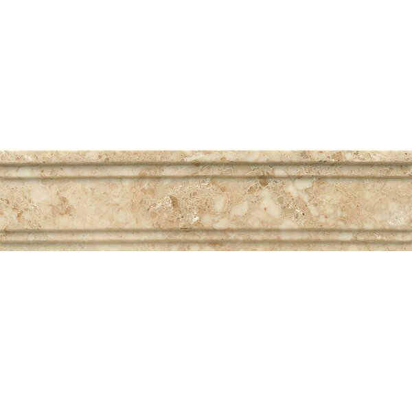 Honed Marble 12 x 3 Crown Molding Tile in Cappuccino by Grayson Martin