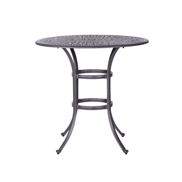 Quintin Metal Bar Table by Fleur De Lis Living