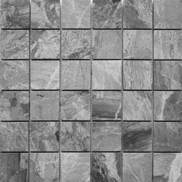 2 x 2 Natural Stone Mosaic Tile in Grigio Fantasia by Ephesus Stones
