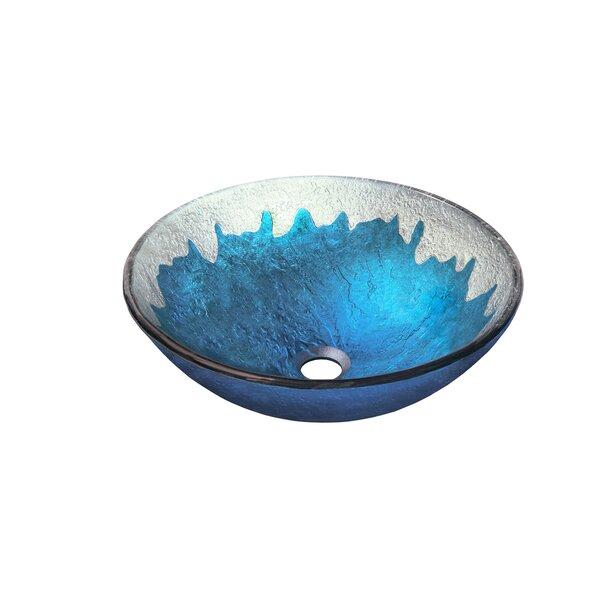 Diaccio Glass Circular Vessel Bathroom Sink by Novatto