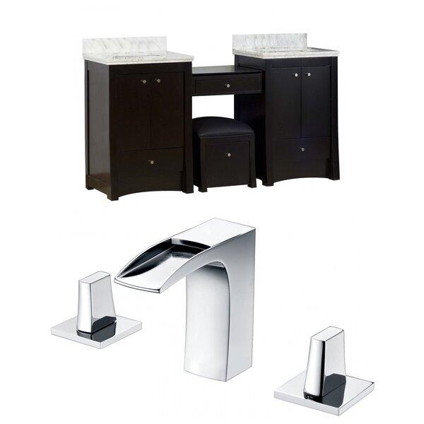 Sharples 69 Double Bathroom Vanity Set