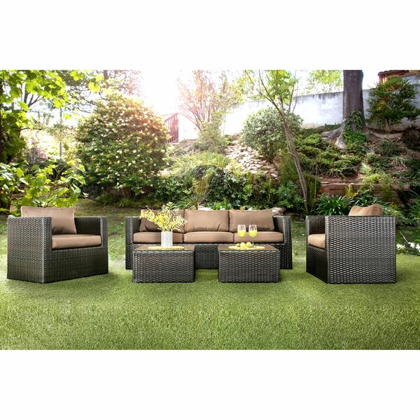 Ledezma 5 Piece Rattan Sofa Seating Group with Cushions by Orren Ellis