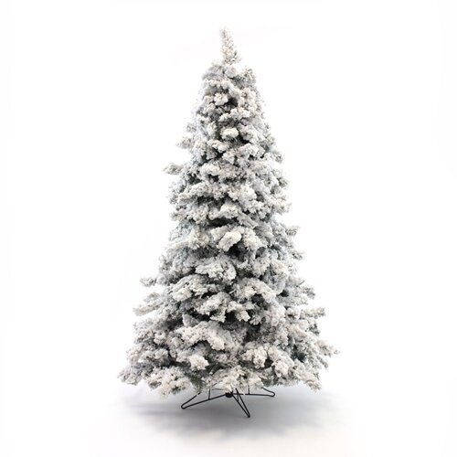 Heavy Flocked White Artificial Christmas with 700