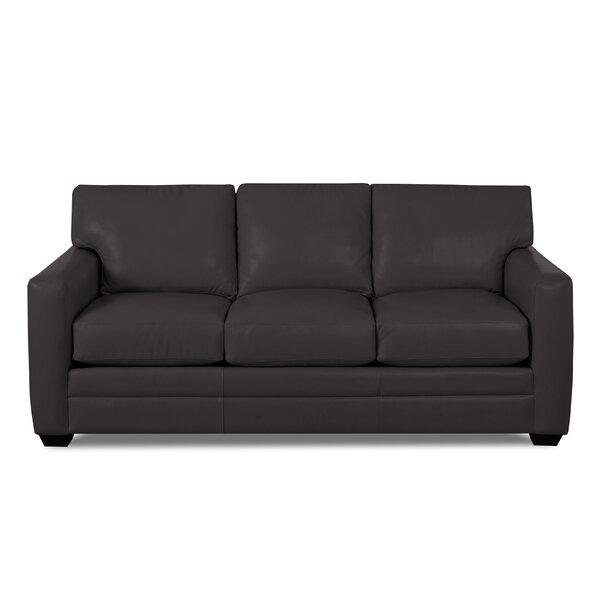 Carleton Leather Sofa by Wayfair Custom Upholstery™