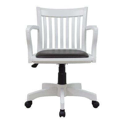 white wooden office chair. laberge midback deluxe bankers chair white wooden office