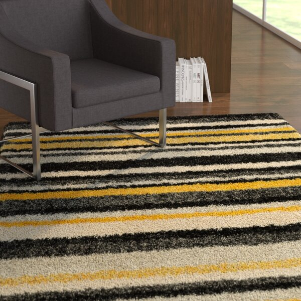 Nalder Black/Yellow Area Rug by Latitude Run