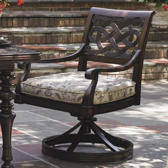 Royal Kahala Swivel Patio Dining Chair with Cushio