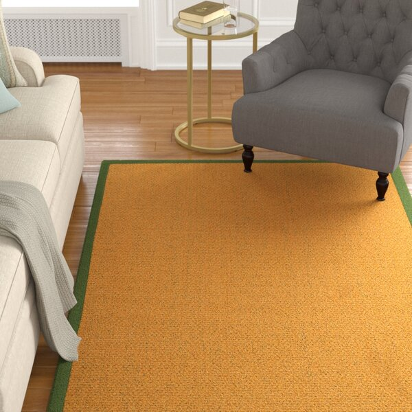 Pritzker HandWoven Yellow Area Rug by Alcott Hill