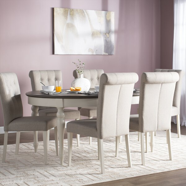 Lattimore 7 Piece Dining Set by Rosecliff Heights