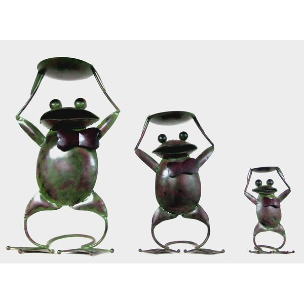 Frog 3 Piece Iron Candle Holder Set by D-Art Collection