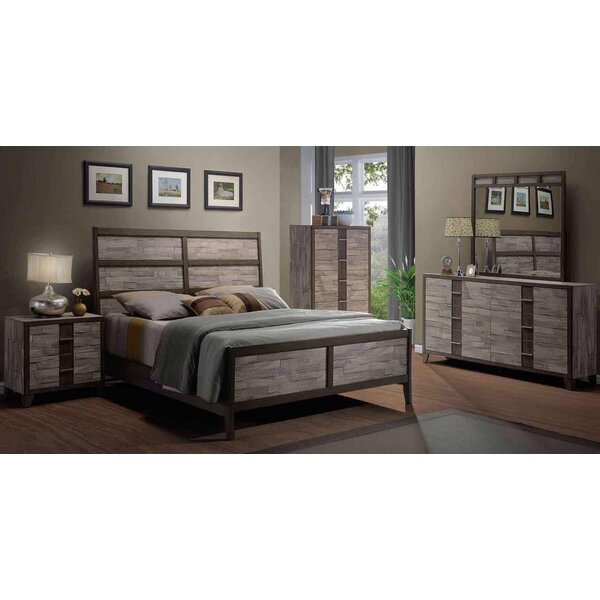 Rodrigues Melamine Sleigh Configurable Bedroom Set by Union Rustic