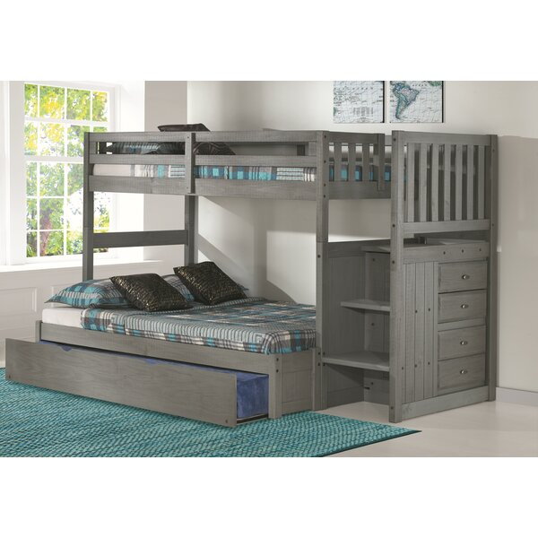 Sandberg Bunk Bed with Trundle and Drawers by Harriet Bee